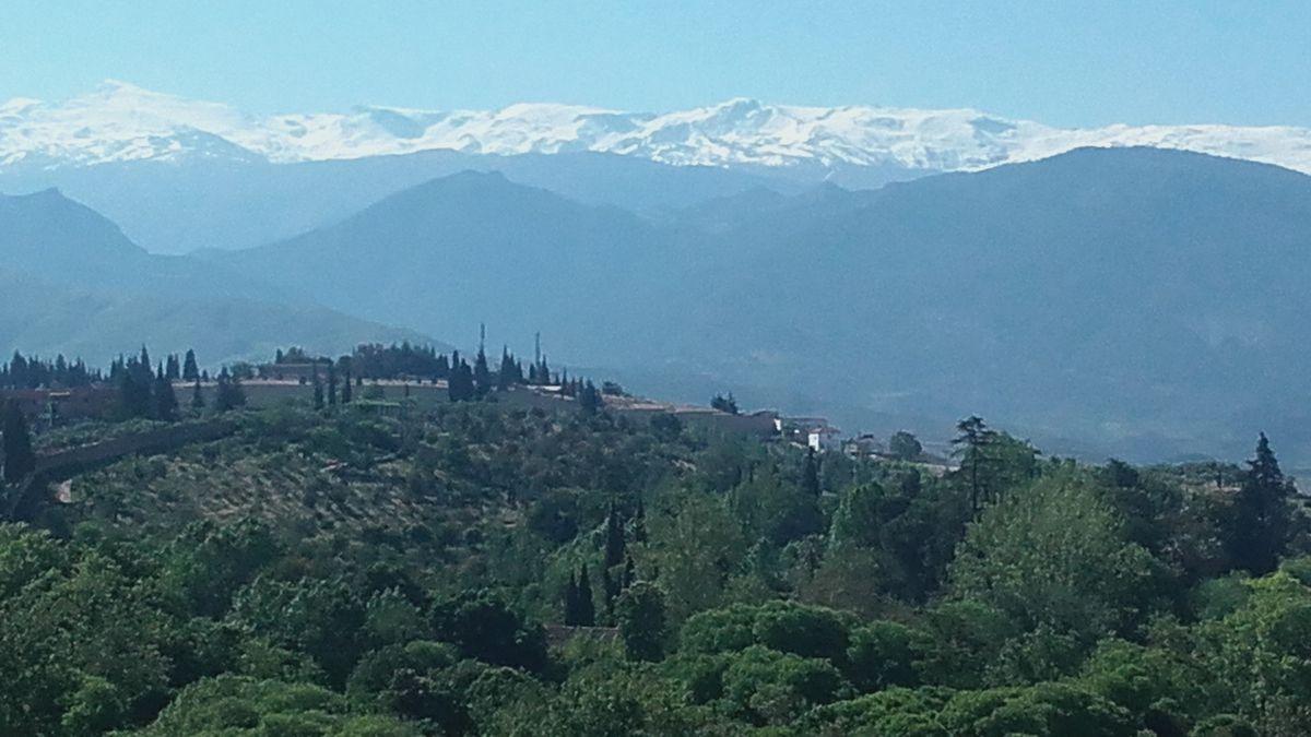 La Sierra Nevada vue de l'Alhambra