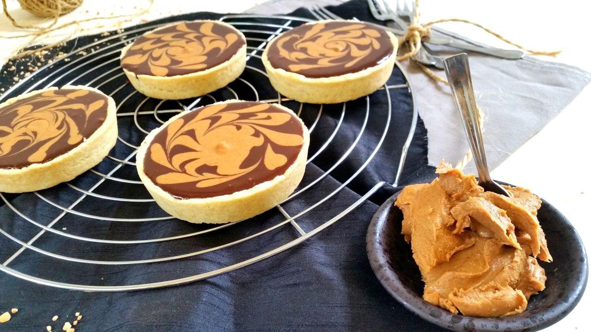 Tartelettes au chocolat et beurre de cacahuète