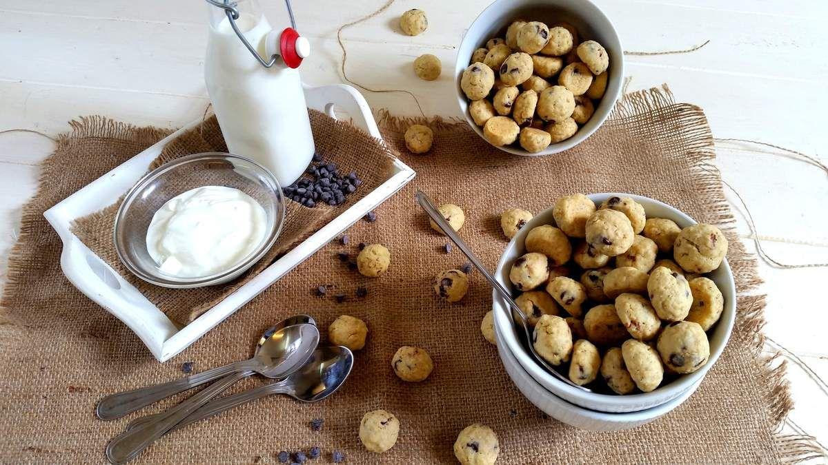 Céréales mini cookies aux flocons d'avoines et pépites de chocolat