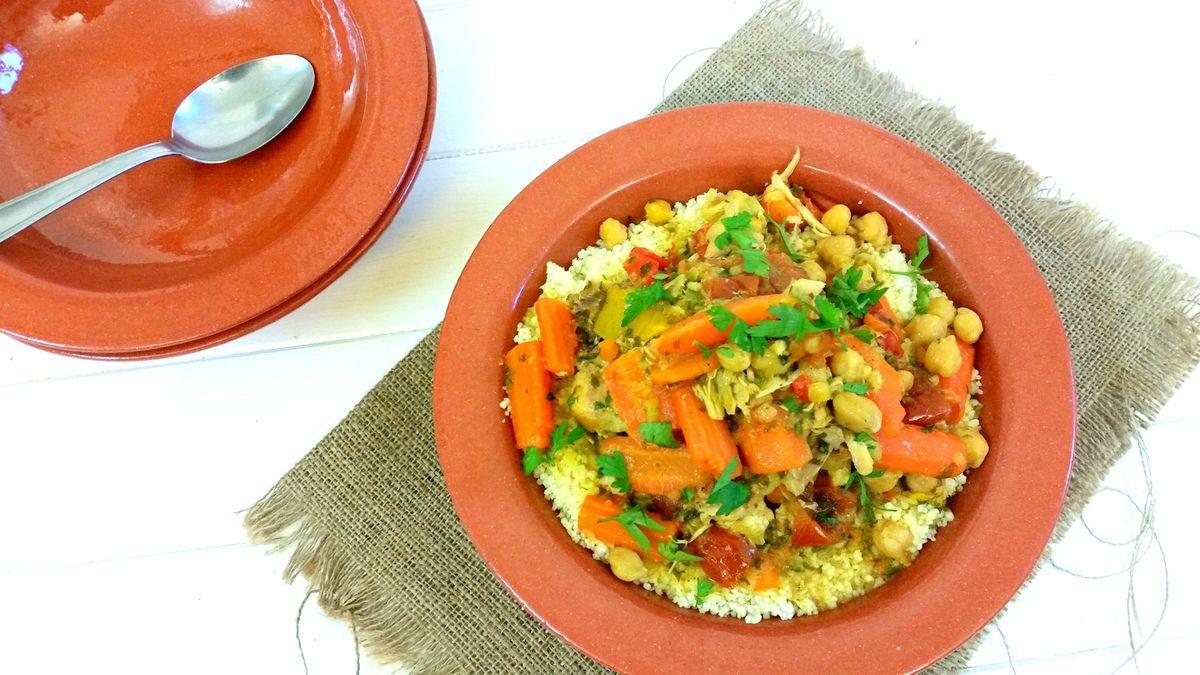 Couscous au poulet et légumes