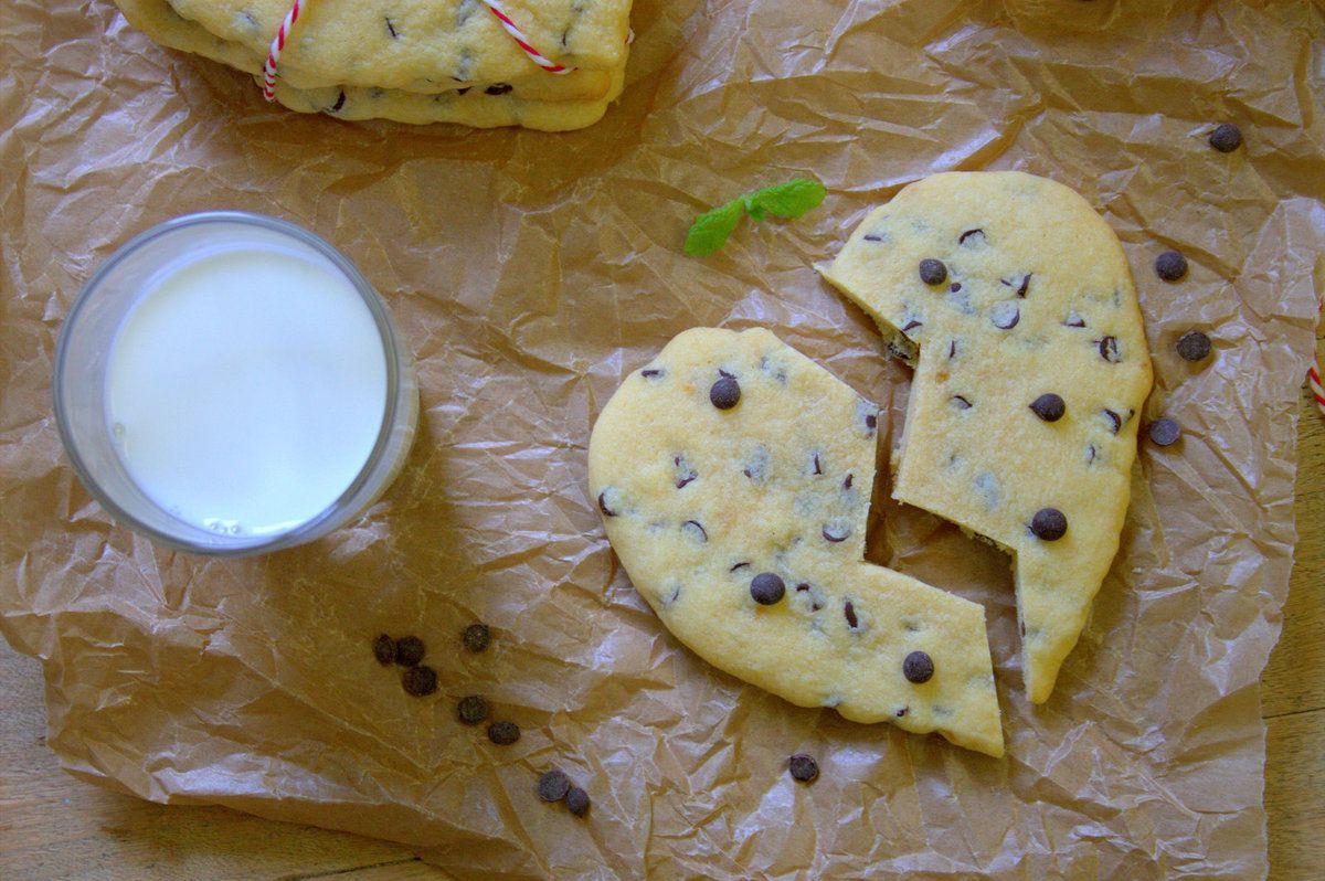 Cookies fondants en forme de coeur
