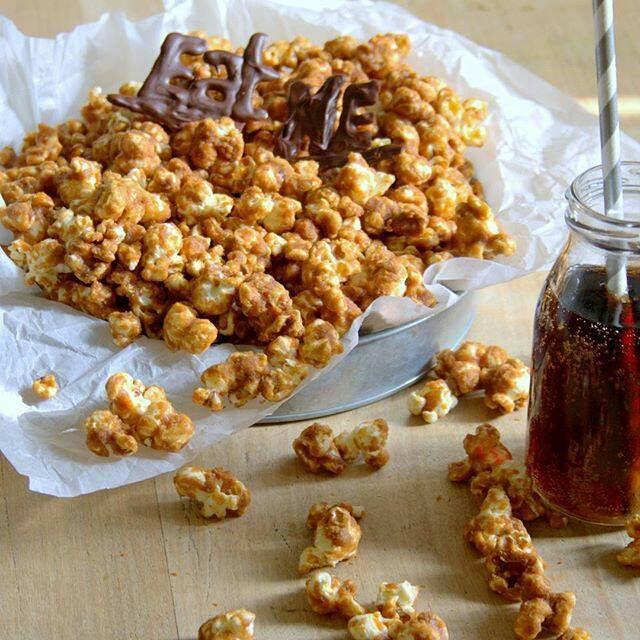 Popcorns au caramel