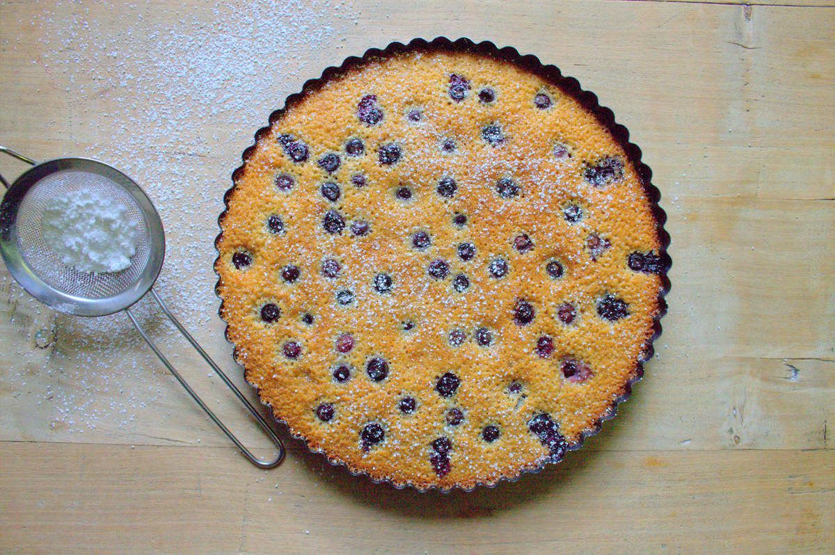 Tarte financier aux myrtilles