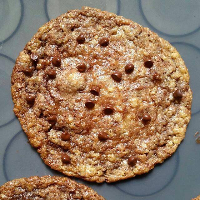 Cookies aux flocons d'avoine  et nutella