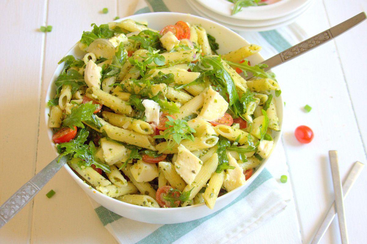 Salade de penne au pesto et roquette - Le Coin Cuisine ... - Salade Pates Pesto