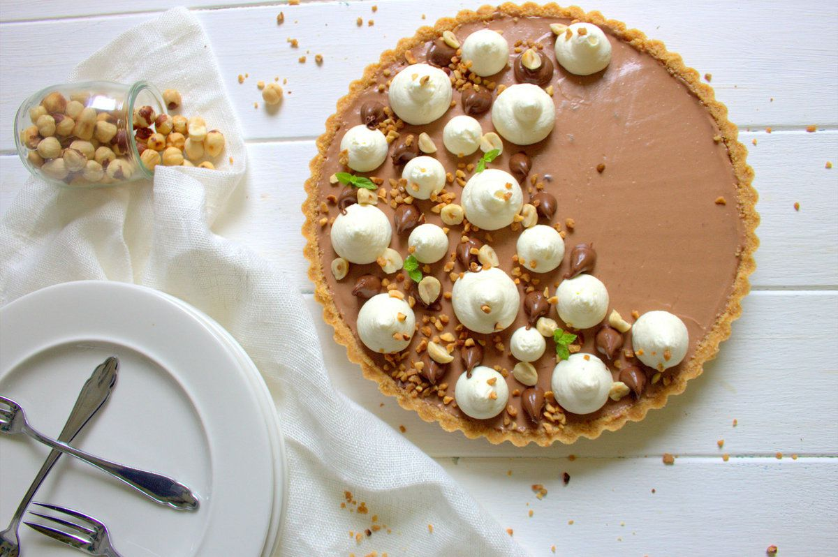 Tarte cheesecake au nutella