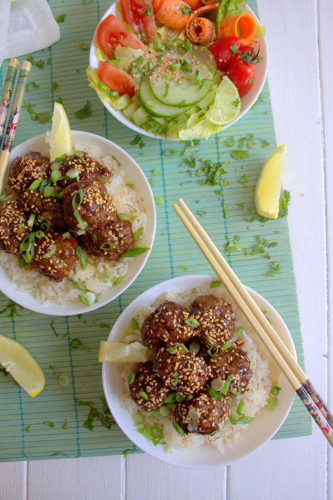 Boulettes de viande sauce teriyaki