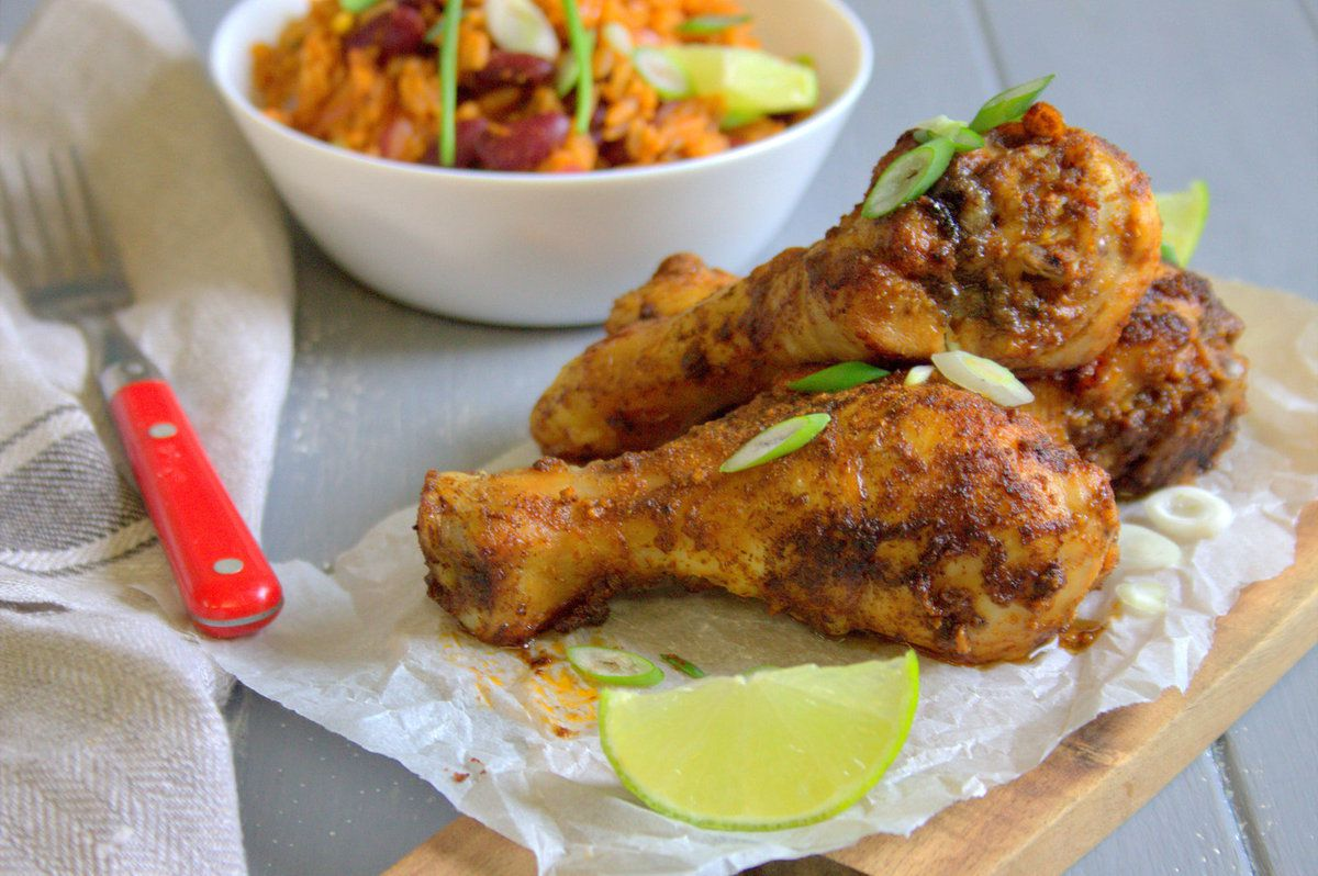 Pilons de poulet et riz la mexicaine le coin cuisine - Pilon de poulet a la poele ...