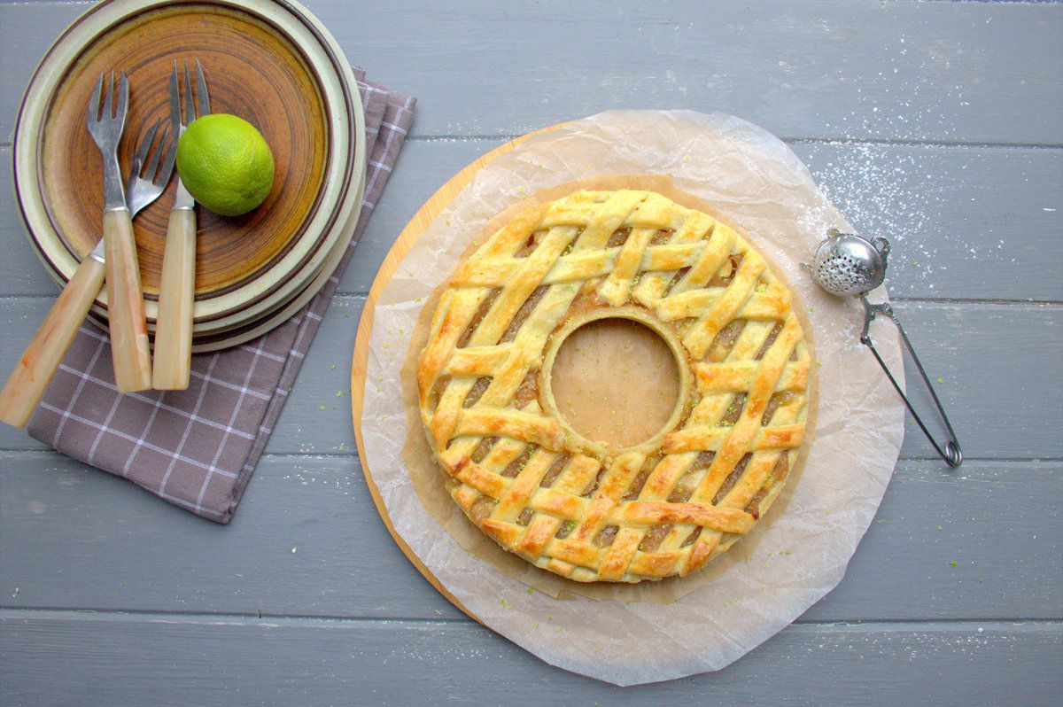 Apple pie au caramel en couronne