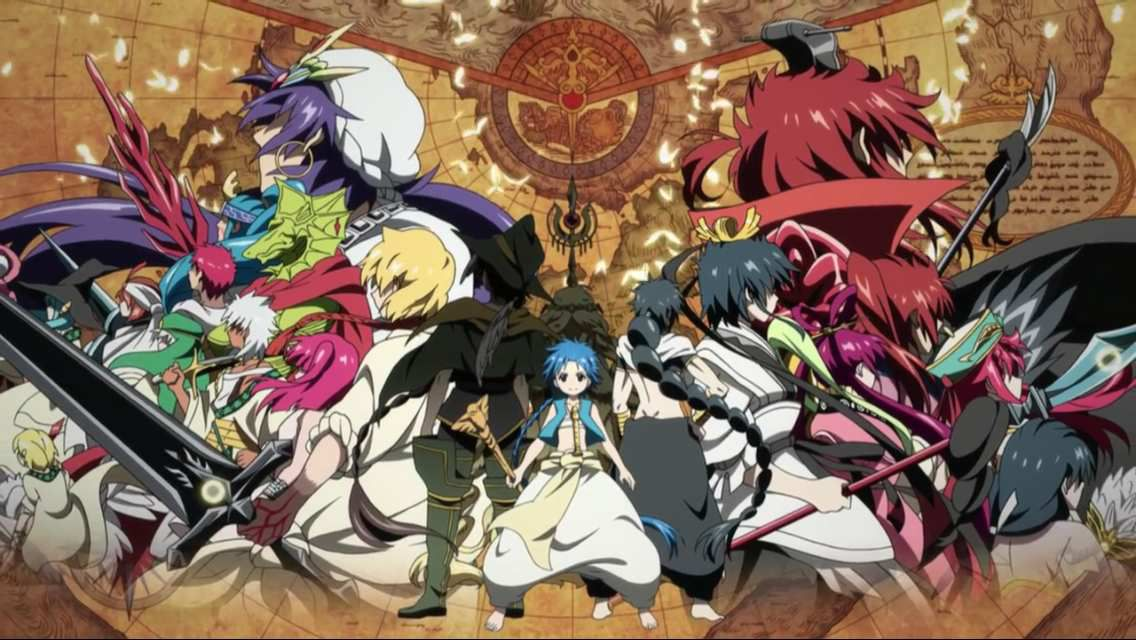 Source : Magi - The Labyrinth of Magic (Kaze, J-one, ADN, Netflix)