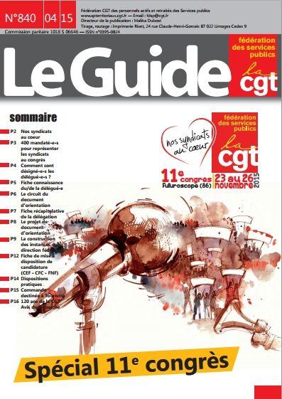 Le Guide n°840 d'avril 2015