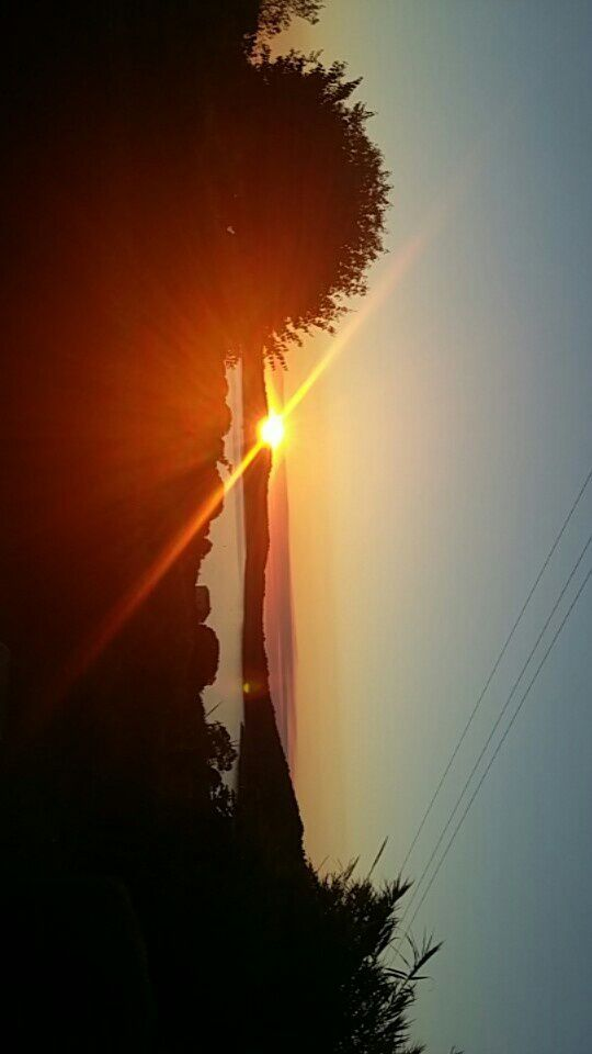 Voici encore un coucher de soleil du jardin de la location mais il est juste magnifique ��