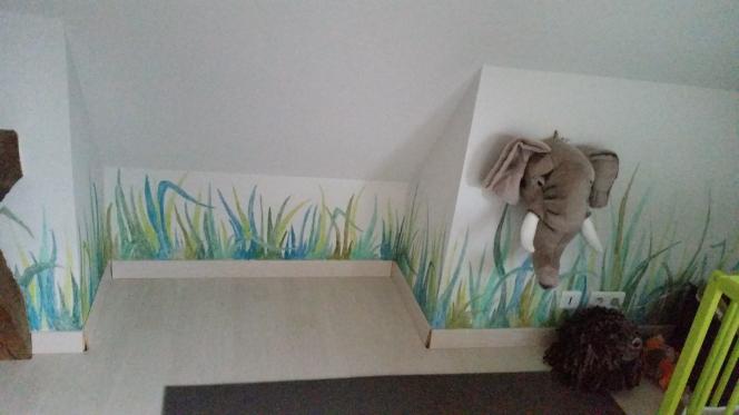 Peinture murale chambre de Paul