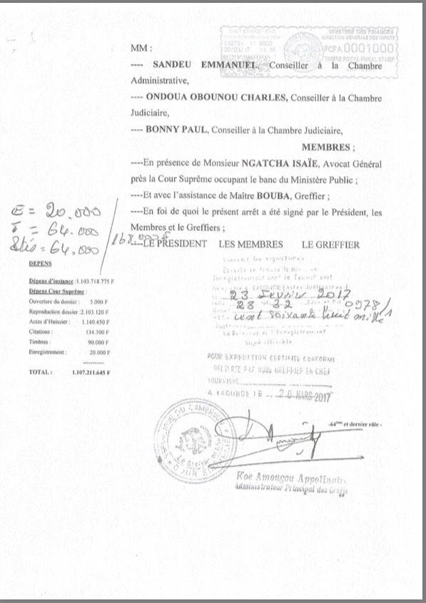 Révélations: Voici comment la Cour-Suprême du Cameroun  avait condamné Marafa Hamidou Yaya, deux semaines avant son jugement du 17 mai 2016.
