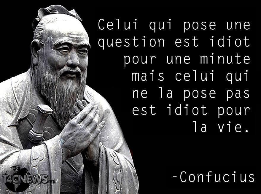 Citaten Confucius : Confucius la vache rose