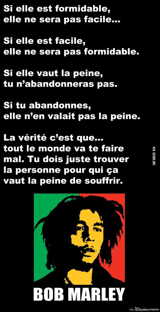 Top Bob Marley - 18 Citations - La vache rose AD83