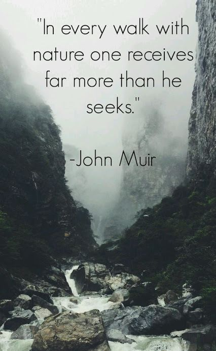 John Muir - English - 4 Quotes