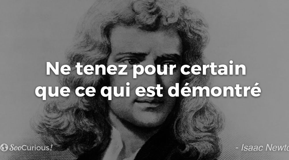 Isaac Newton - 2 Citations