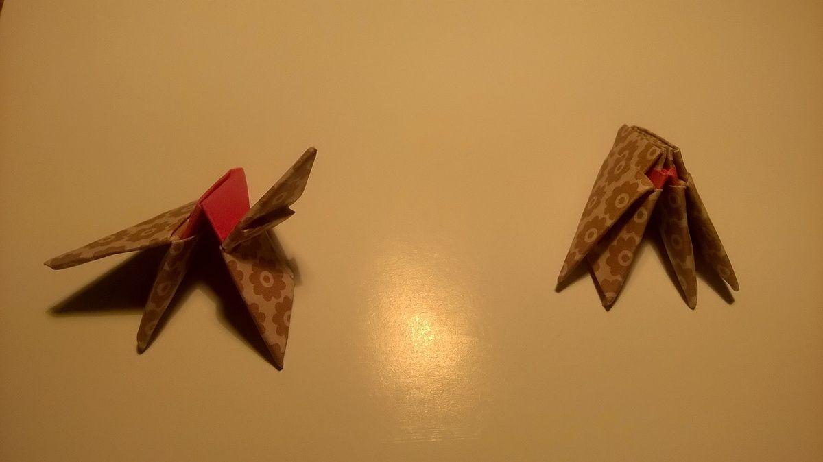 Mon amie marine m'a lancé un défi en m offrant du papier à origami donc je me lance