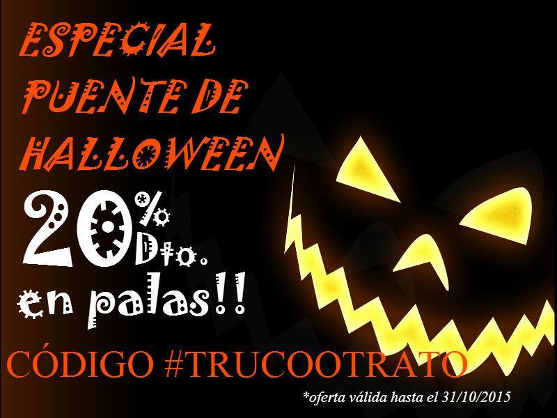 20% DE DTO. EN PALAS DE LAS PRIMERAS MARCAS, INSERTANDO EL CODIGO #TRUCOOTRATO