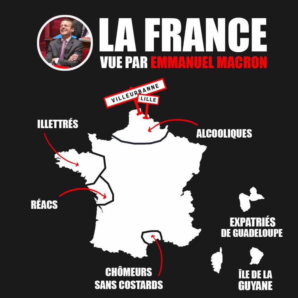 Comment Macron-(((Rothschild))) voit la France