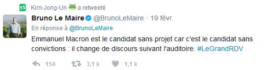 Les Palinodies de Bruno Le Maire, le nouveau Ministre de l'Economie