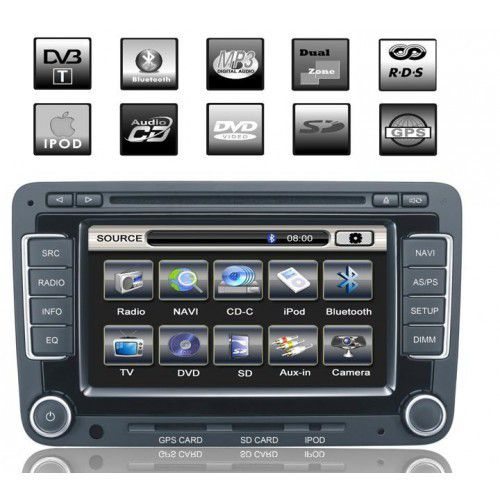 acheter autoradio pas cher autoradio dvd gps tmc volkswagen golf vi passat cc 2009 2010 avec. Black Bedroom Furniture Sets. Home Design Ideas