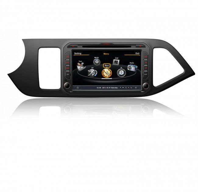 soldes autoradio dvd gps kia picanto avec cran tactile 8. Black Bedroom Furniture Sets. Home Design Ideas