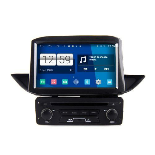 lecteur dvd android 4 4 4 autoradio peugeot 308 poste dvd gps usb bluetooth cran tactile 4g. Black Bedroom Furniture Sets. Home Design Ideas