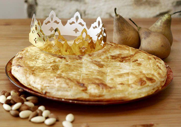 galette des rois - frangipane poire pomme chocolat