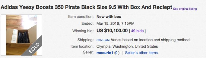b668db85c38c Pair Of Black Yeezy boost 350s Sells For A lot more Than  10