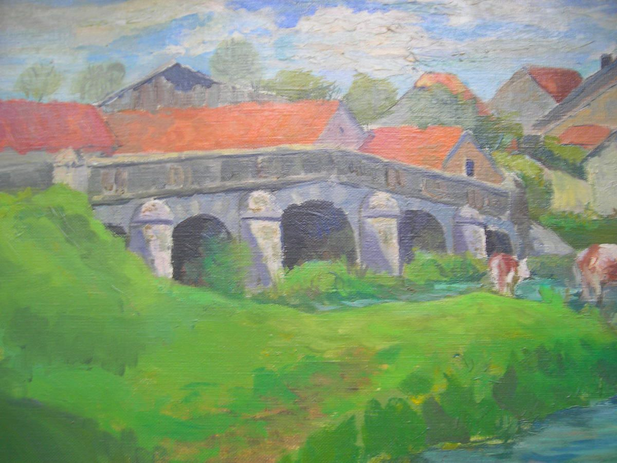 Huile d'Irma Lutz, Dampvalley les colombes.