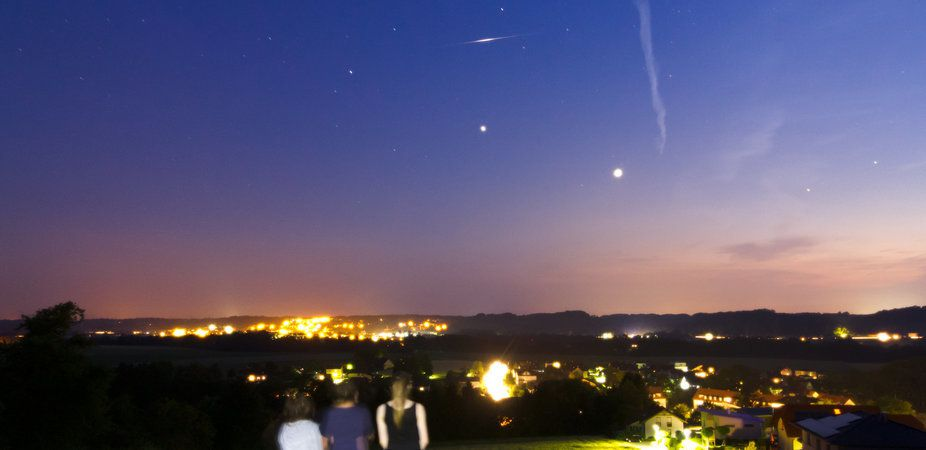 Exceptional... Today... new triangulation of Jupiter, Venus and the Moon