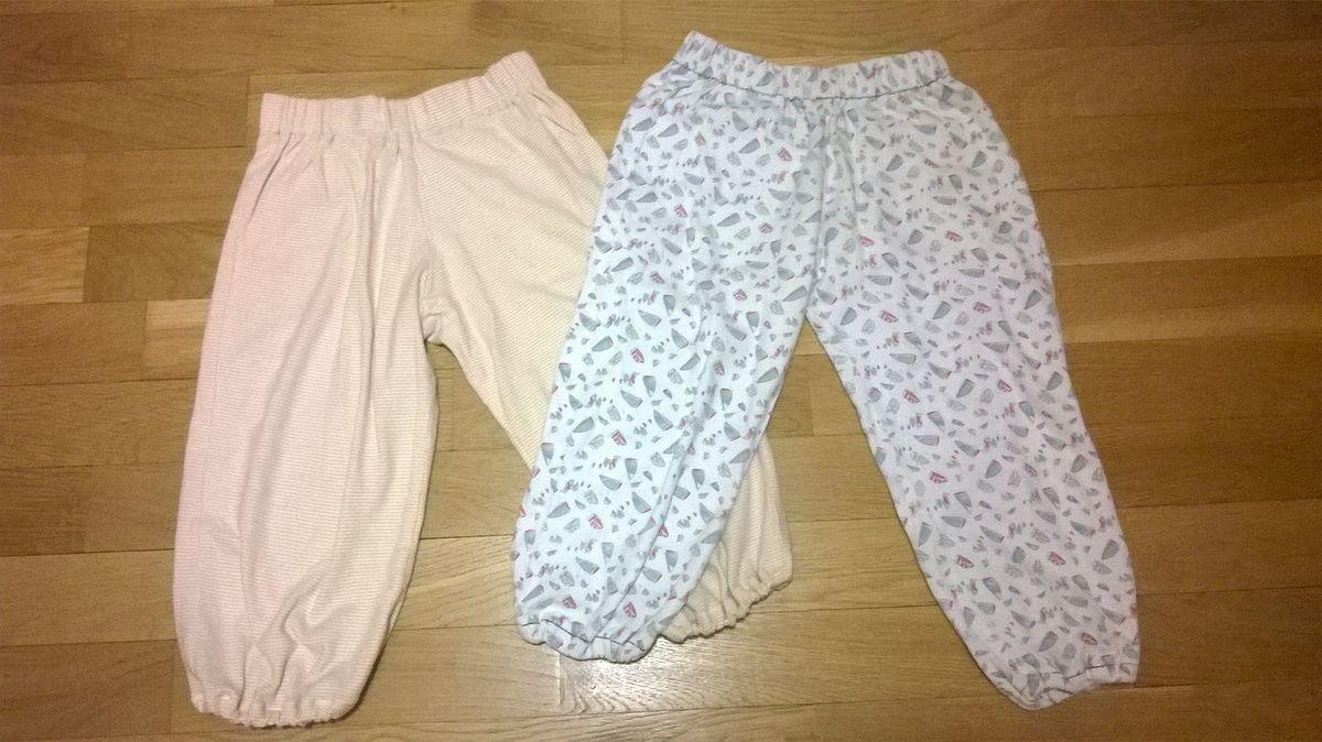 Reprise de pyjamas (élastique taille et chevilles) faits il y a longtemps pour mon grand loulou et portés maintenant par loulou !