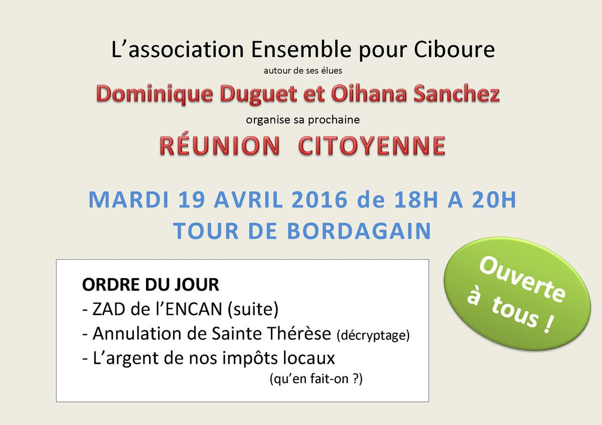 Rencontre citoyenne 19 avril 2016