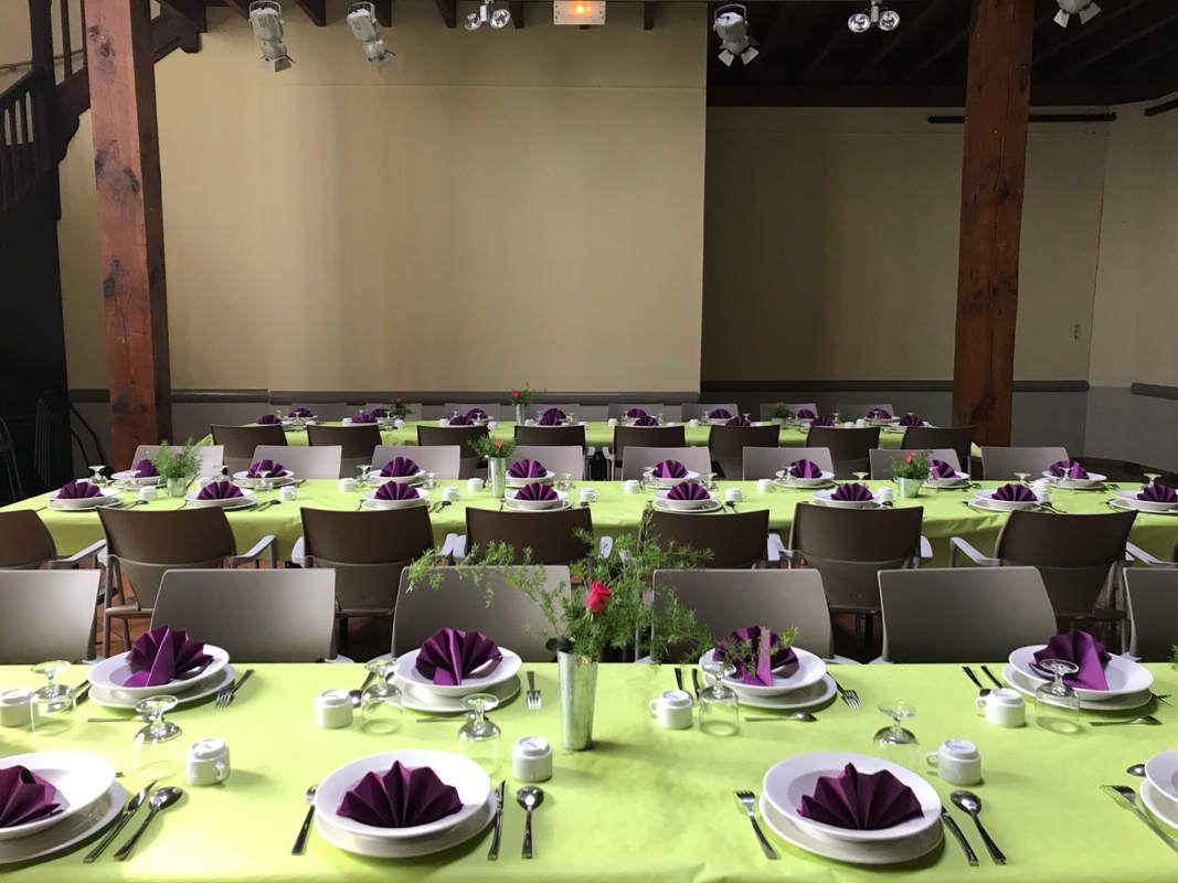 Nous sommes prêts pour vous accueillir ce soir à notre repas citoyen 🥂
