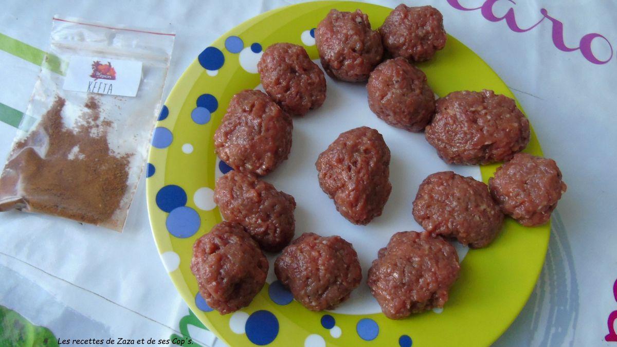 Boulettes de bœuf façon Keftas