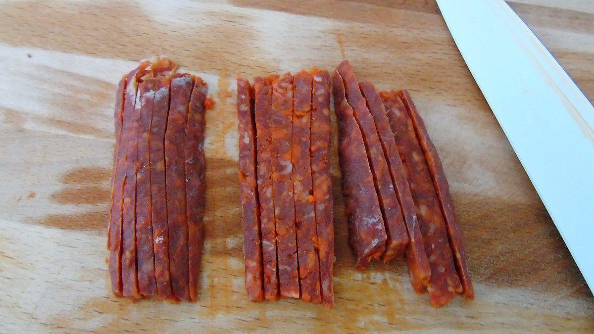 Cake jambon et chorizo réalisé avec Ankarsrum
