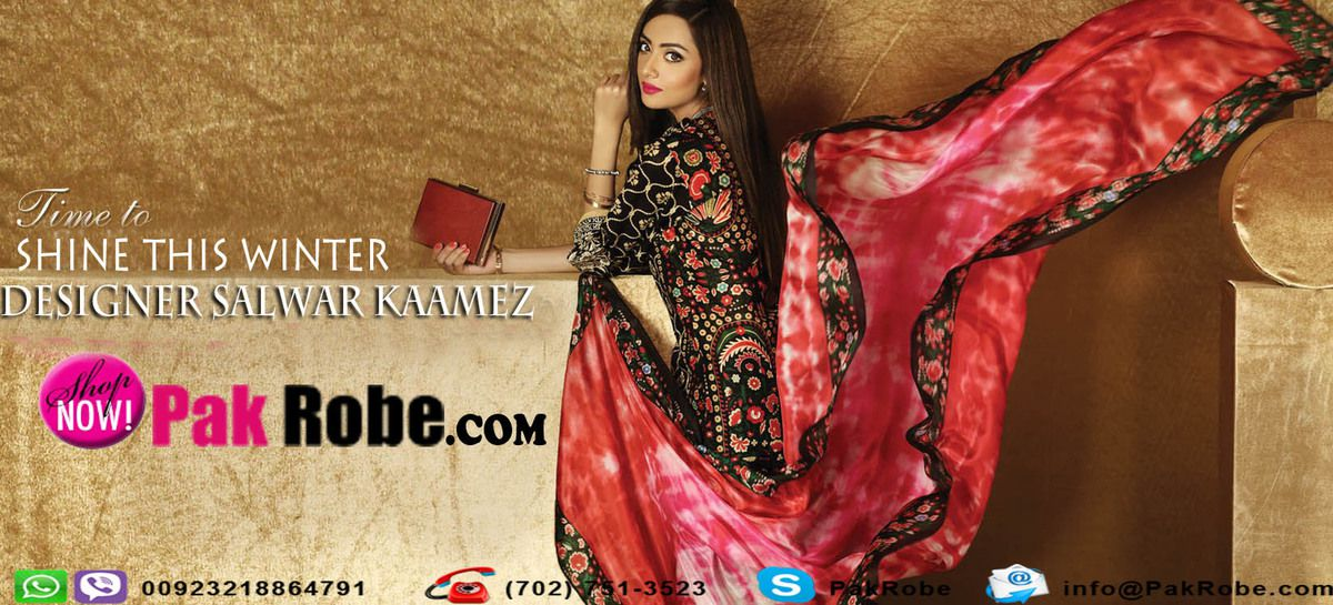 Embroidery Salwar Kameez Designs Pak Robe Buy Online Pakistani And