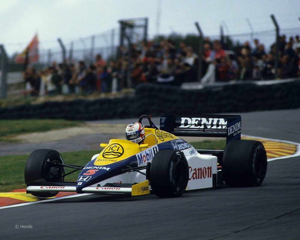 La Williams-Honda sur laquelle Mansell remporta sa première course à Brands Hatch en 1985