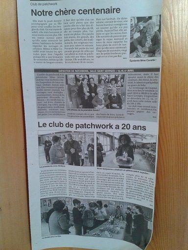 Le club de patchwork d'Albias a 20 ans !