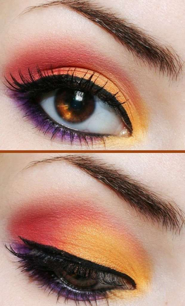 maquillage colorée