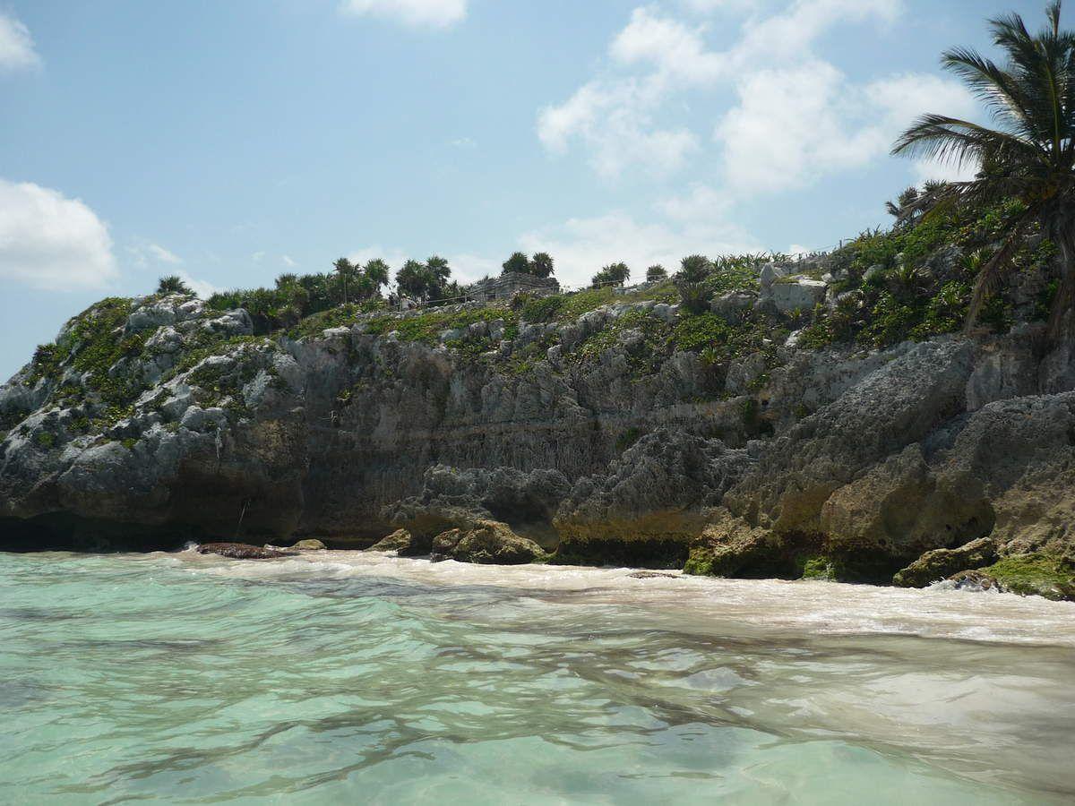 Tulum : La plage du site archéologique