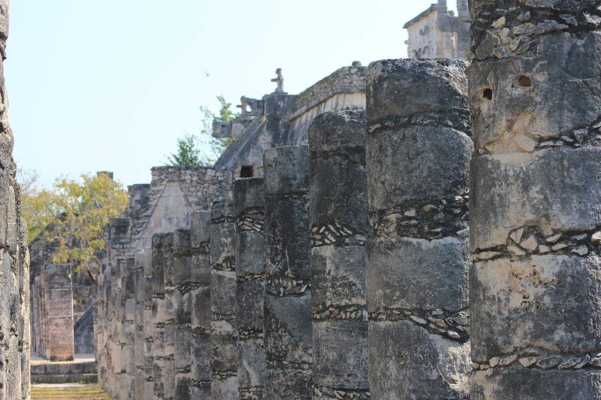 Chichén Itzá - Le temple des guerriers et des 1000 colonnes