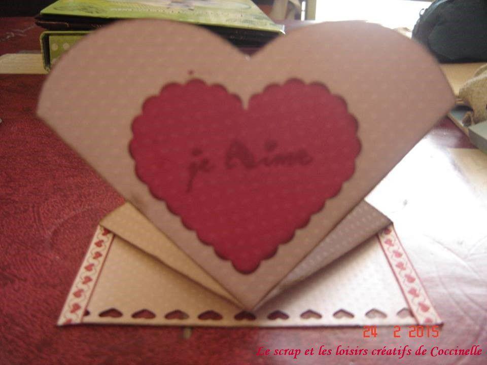 Carte St Valentin forme coeur