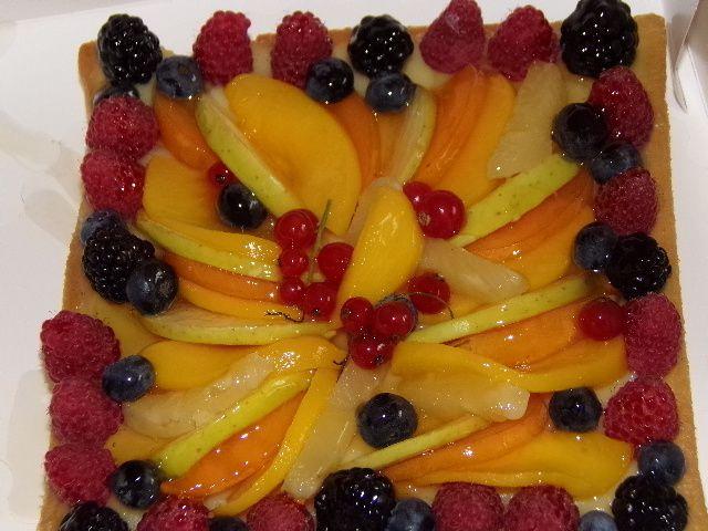 Gâteau aux fruits frais
