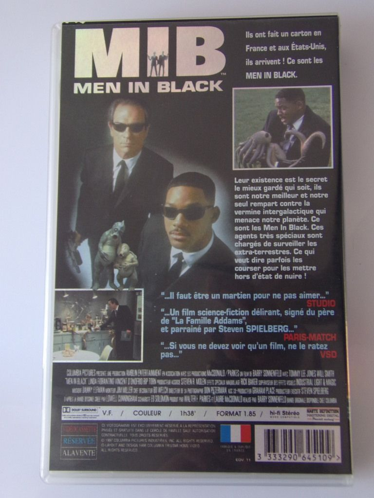VHS Cassette Vidéo - MIB Men In Black - Will Smith