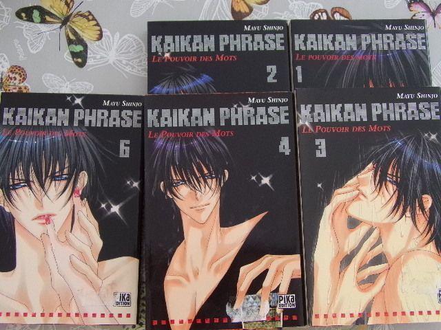RARE Epuisé lot 5 MANGA KAIKAN PHRASE Tomes 1,2,3,4,et 6 Neufs Pika Edition