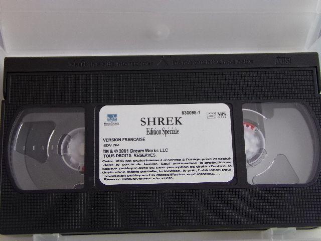 Cassette vidéo VHS - SHREK - Edition spéciale - Une toute nouvelle aventure !