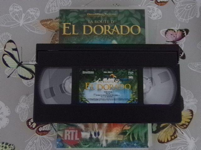 Cassette vidéo VHS - La Route d'El Dorado - Dessin animé de Dream Works Pictures